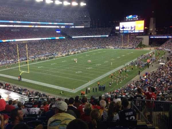 Gillette Stadium, vak: 217, rij: 12, stoel: 6
