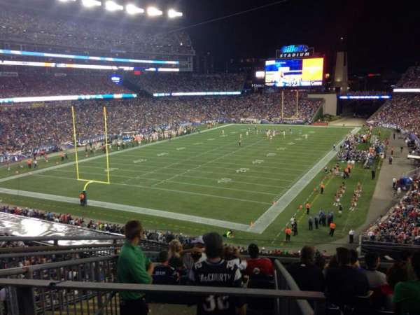 Gillette Stadium, vak: 218, rij: 9, stoel: 16