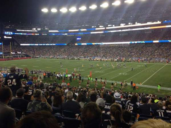 Gillette Stadium, vak: 104, rij: 34, stoel: 3