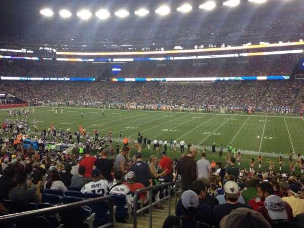 Gillette Stadium, vak: 106, rij: 32, stoel: 21