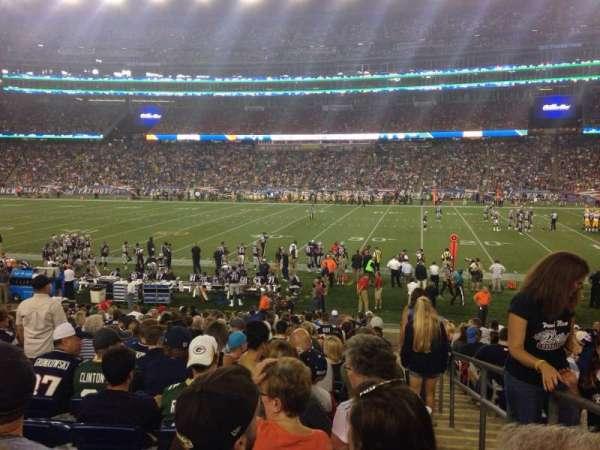 Gillette Stadium, vak: 108, rij: 20, stoel: 1