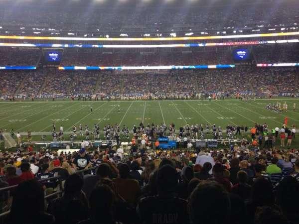 Gillette Stadium, vak: 109, rij: 35, stoel: 21