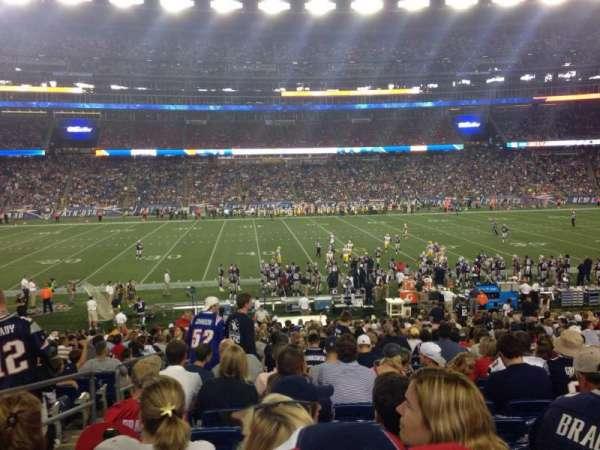 Gillette Stadium, vak: 110, rij: 27, stoel: 20