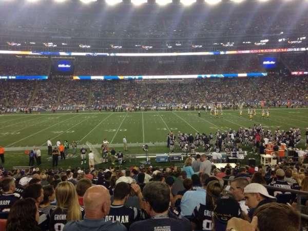 Gillette Stadium, vak: 111, rij: 23, stoel: 3