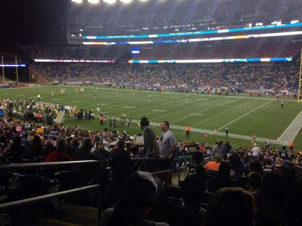 Gillette Stadium, vak: 126, rij: 36, stoel: 24