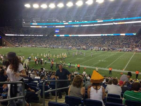 Gillette Stadium, vak: 127, rij: 27, stoel: 5