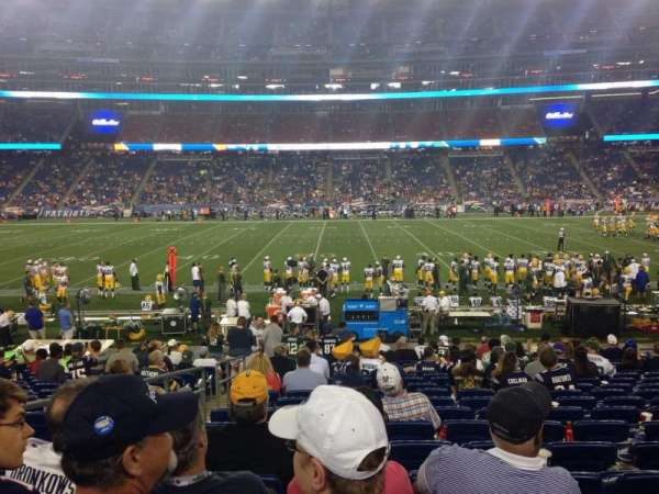 Gillette Stadium, vak: 131, rij: 18, stoel: 19