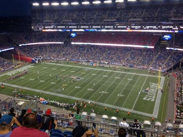 Gillette Stadium, vak: 327, rij: 14, stoel: 14