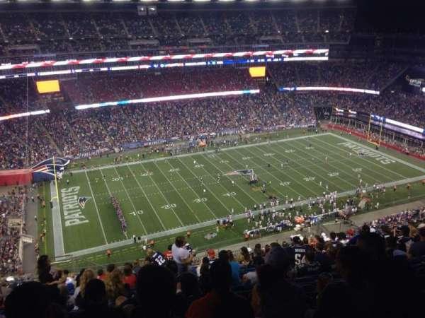 Gillette Stadium, vak: 335, rij: 25, stoel: 20