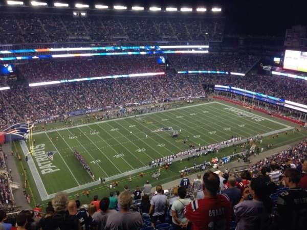 Gillette Stadium, vak: 336, rij: 21, stoel: 20