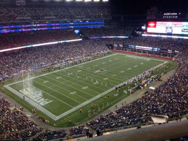 Gillette Stadium, vak: 339, rij: 8, stoel: 5
