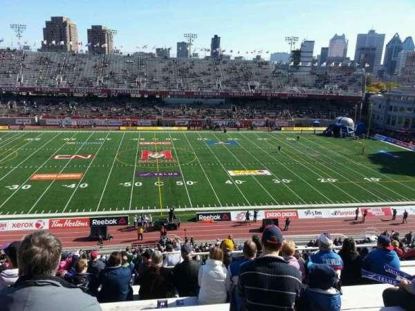 Percival Molson Memorial Stadium, vak: g2, rij: 10, stoel: 10