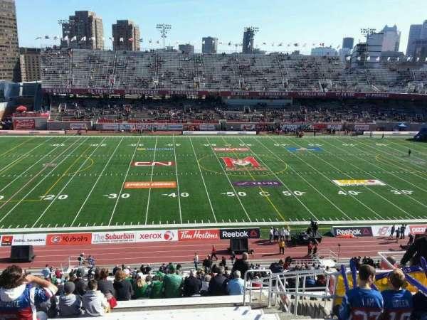 Percival Molson Memorial Stadium, vak: h2, rij: 9, stoel: 13