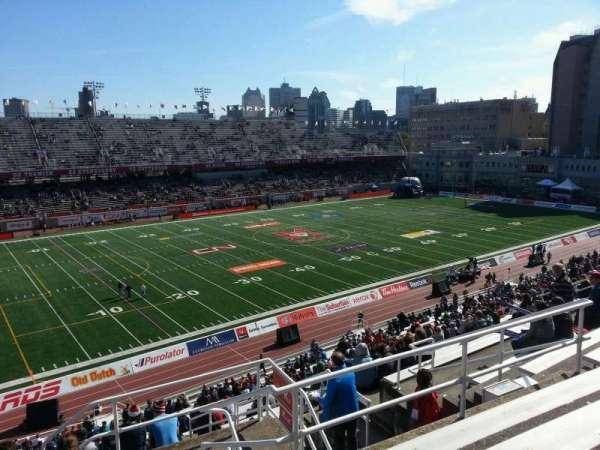 Percival Molson Memorial Stadium, vak: k2, rij: 7, stoel: 1