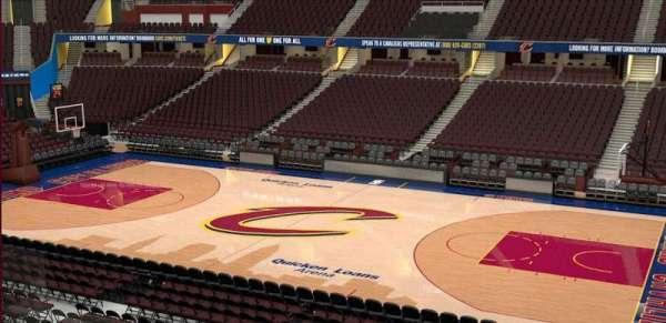 Quicken Loans Arena, vak: C110, rij: 20