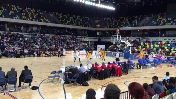 Copper Box Arena, vak: 105, rij: 5, stoel: 101