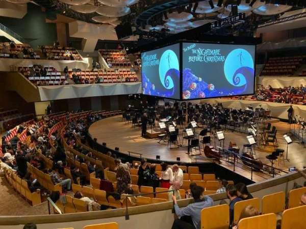 Boettcher Concert Hall, vak: Dress Circle 1, rij: E, stoel: 9