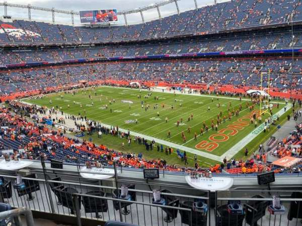 Empower Field at Mile High Stadium, vak: 301, rij: 7, stoel: 18