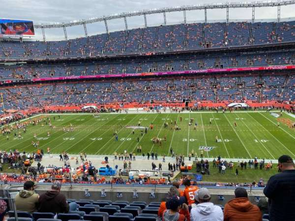 Empower Field at Mile High Stadium, vak: 307, rij: 8, stoel: 7