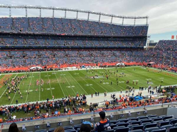 Empower Field at Mile High Stadium, vak: 312, rij: 8, stoel: 8