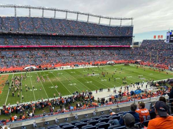 Empower Field at Mile High Stadium, vak: 313, rij: 8, stoel: 7