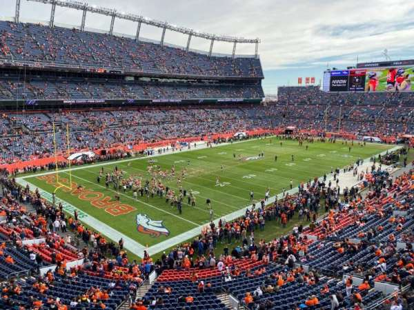 Empower Field at Mile High Stadium, vak: 317, rij: 2, stoel: 14
