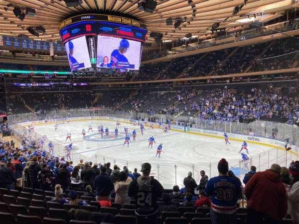 Madison Square Garden, vak: 120, rij: 18, stoel: 17