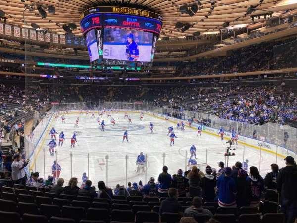 Madison Square Garden, vak: 101, rij: 15, stoel: 15