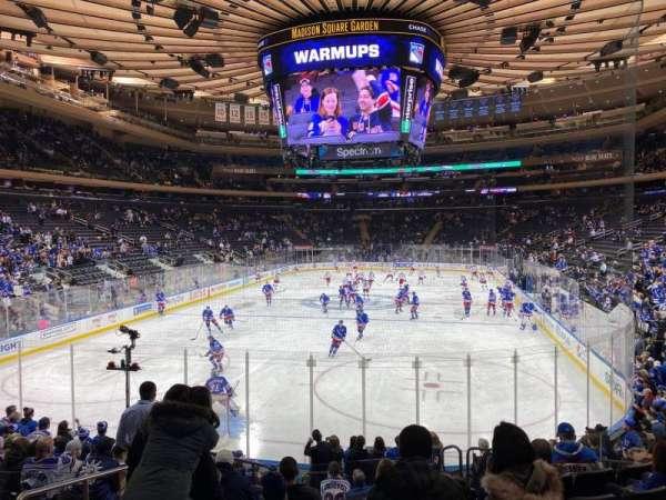 Madison Square Garden, vak: 103, rij: 12, stoel: 3