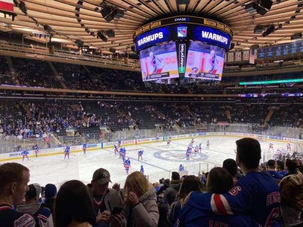 Madison Square Garden, vak: 105, rij: 18, stoel: 5