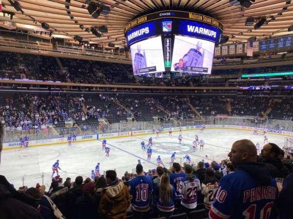 Madison Square Garden, vak: 105, rij: 19, stoel: 10