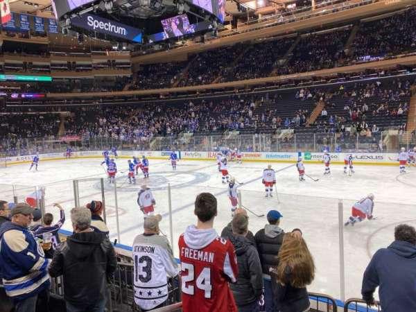 Madison Square Garden, vak: 109, rij: 6, stoel: 1