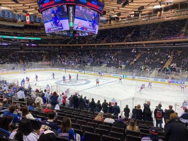 Madison Square Garden, vak: 109, rij: 16, stoel: 20