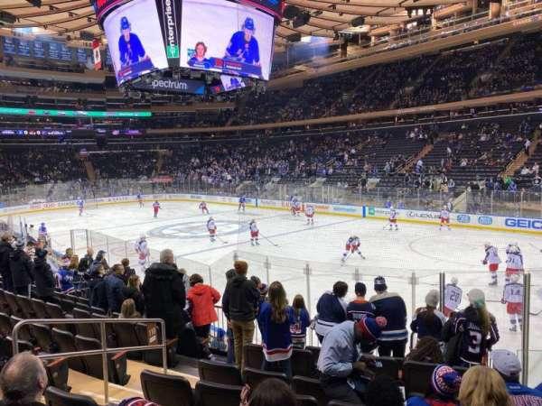 Madison Square Garden, vak: 110, rij: 11, stoel: 6