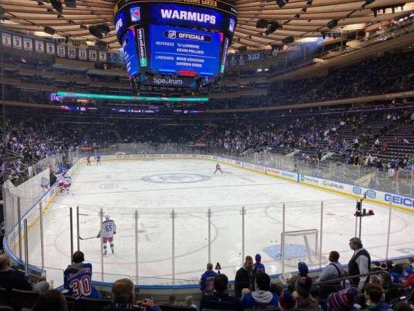 Madison Square Garden, vak: 111, rij: 11, stoel: 13