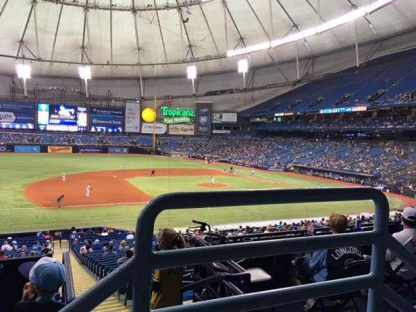 Tropicana Field, vak: 121, rij: PP, stoel: 9