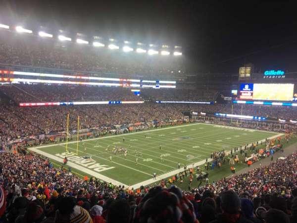 Gillette Stadium, vak: 238, rij: 21, stoel: 23