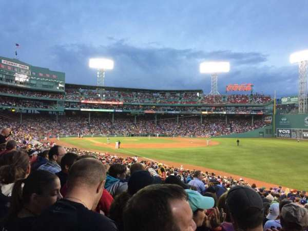 Fenway Park, vak: Right field Box 94, rij: UU, stoel: 3