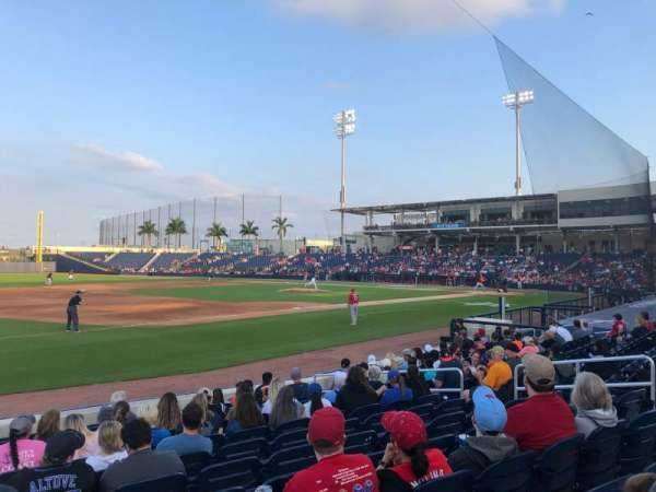 FITTEAM Ballpark of the Palm Beaches, vak: 101, rij: M, stoel: 1