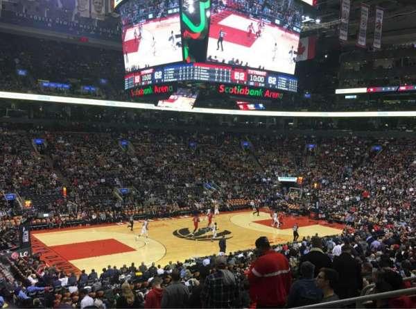 Scotiabank Arena, vak: 121, rij: 25, stoel: 6