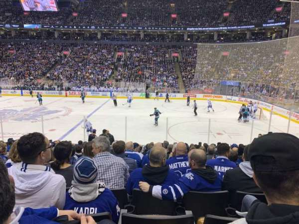 Scotiabank Arena, vak: 107, rij: 16, stoel: 10