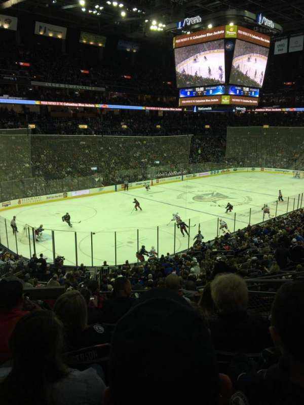 Nationwide Arena, vak: 117, rij: GG, stoel: 4