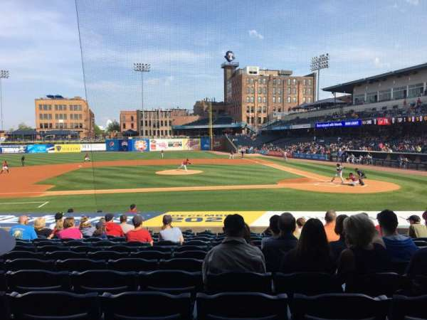 Fifth Third Field, vak: 107, rij: S, stoel: 12