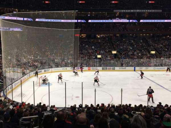Nationwide Arena, vak: 105, rij: V, stoel: 19