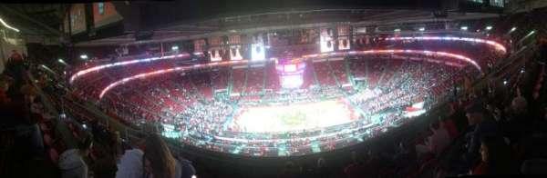 PNC Arena, vak: 324, rij: J, stoel: 11