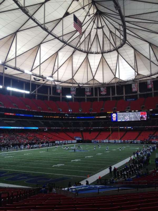Georgia Dome, vak: 122, rij: 26, stoel: 5
