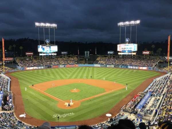 Dodger Stadium, vak: 2RS, rij: G, stoel: 9