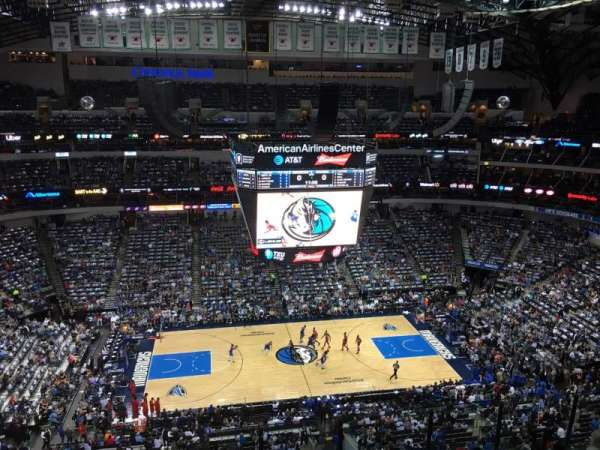 American Airlines Center, vak: 327, rij: G, stoel: 7