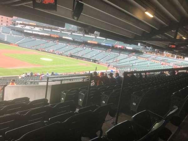 Oriole Park at Camden Yards, vak: 61, rij: 11, stoel: 5