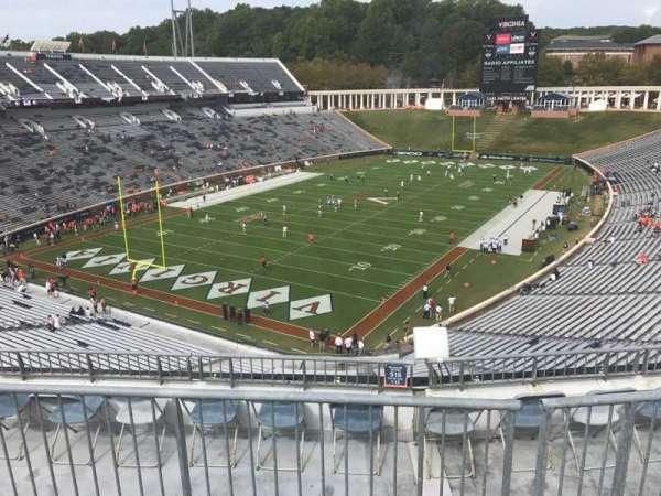 Scott Stadium, vak: 516, rij: F, stoel: 9